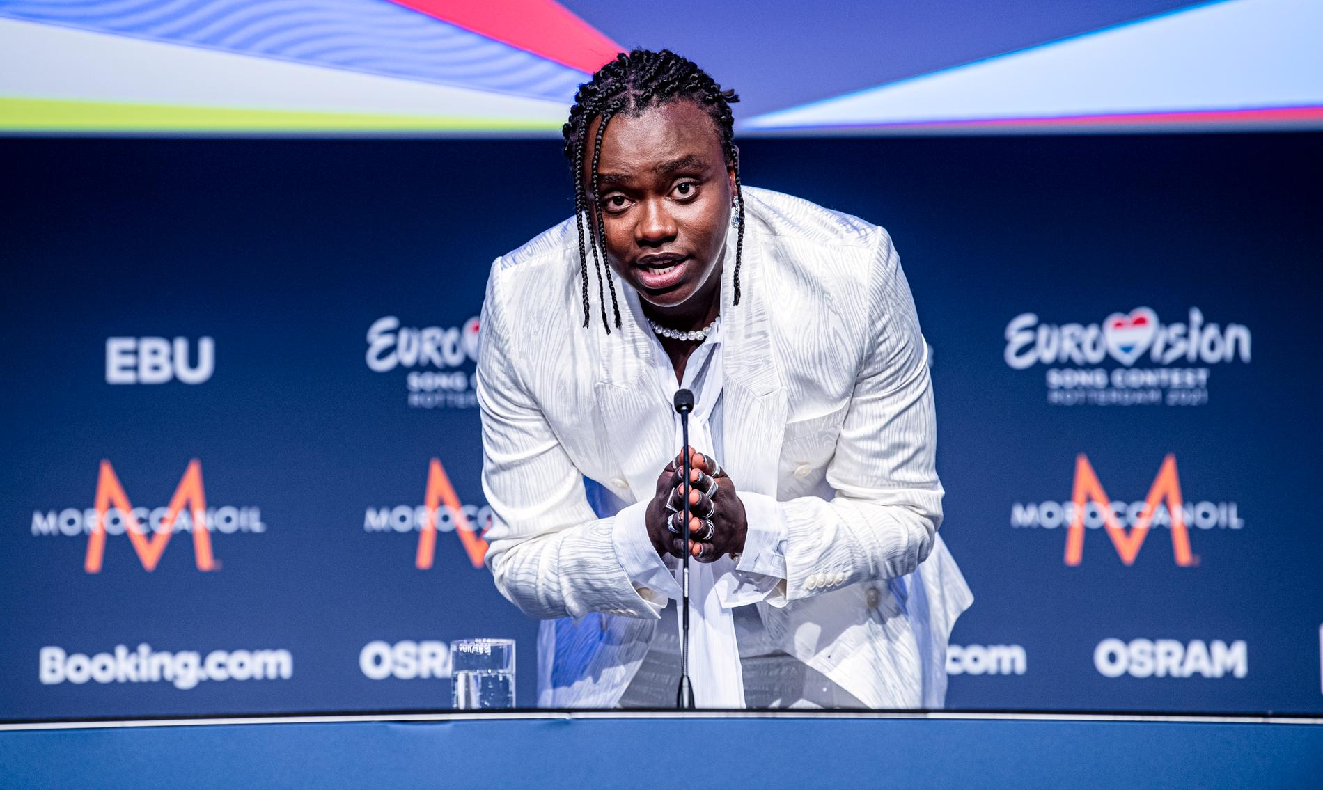 Tusse när han gick vidare från semifinalen under tisdagen.