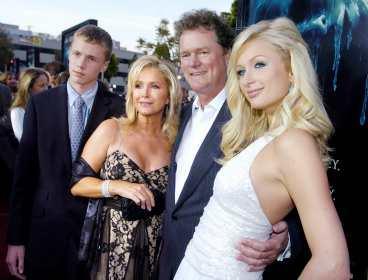 Rick, Kathy, Baron och Paris Hilton.