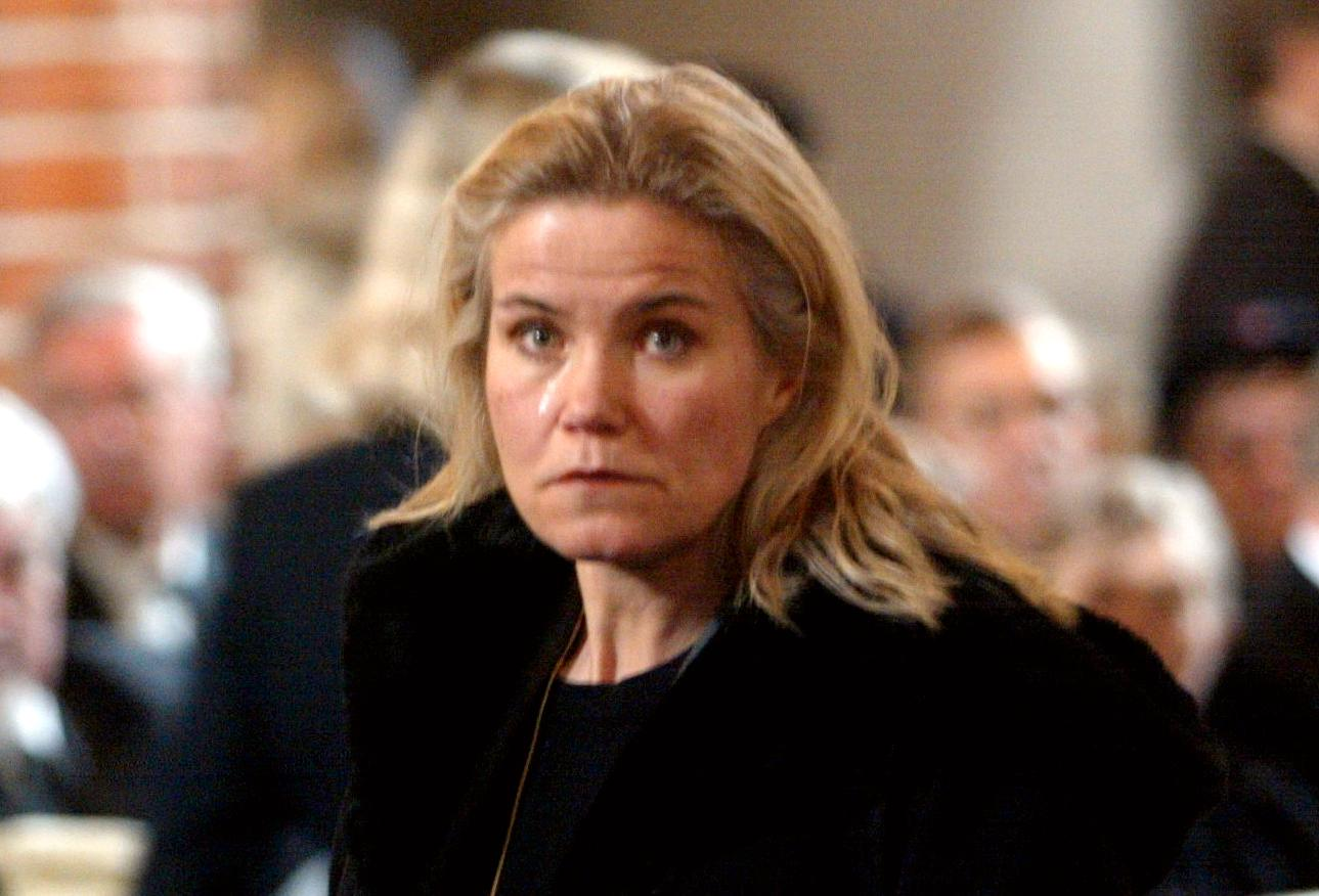 Maria Johansson på Astrid Lindgrens begravning.
