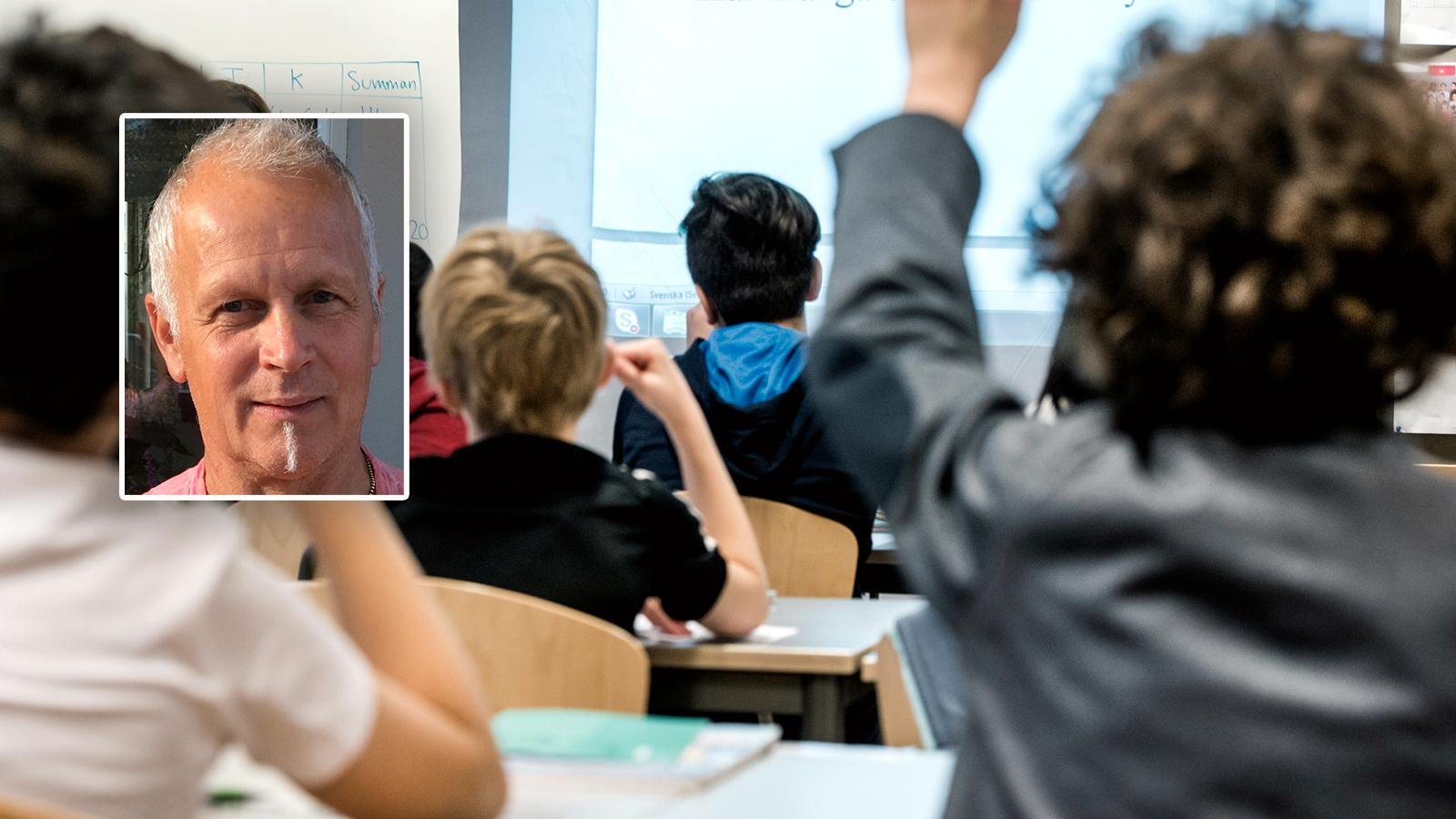 Systemet går idag ut på att dränera den kommunala skolan på resursstarka elever för att kunna göra de vinster som bolagsformen kräver. Vinster som istället skulle kunna användas till en totalt sett bättre skola för alla Sveriges elever, skriver debattören.