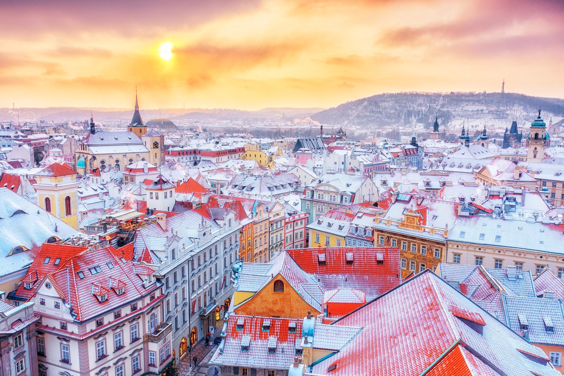 Prag är som vackrast på vintern.