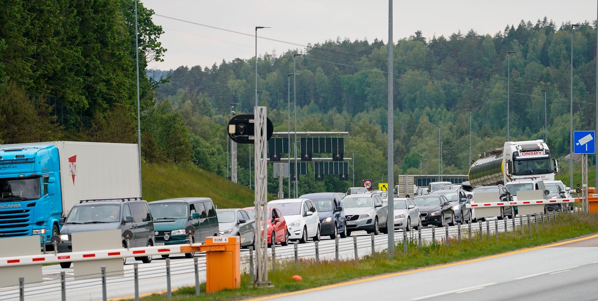 Köer vid gränsövergången i Svinesund.