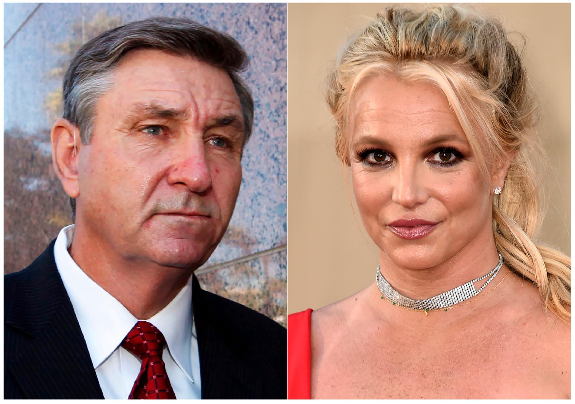 Jamie Spears och dottern Britney Spears strider om vem som ska vara sångerskans förmyndare. Arkivbild.