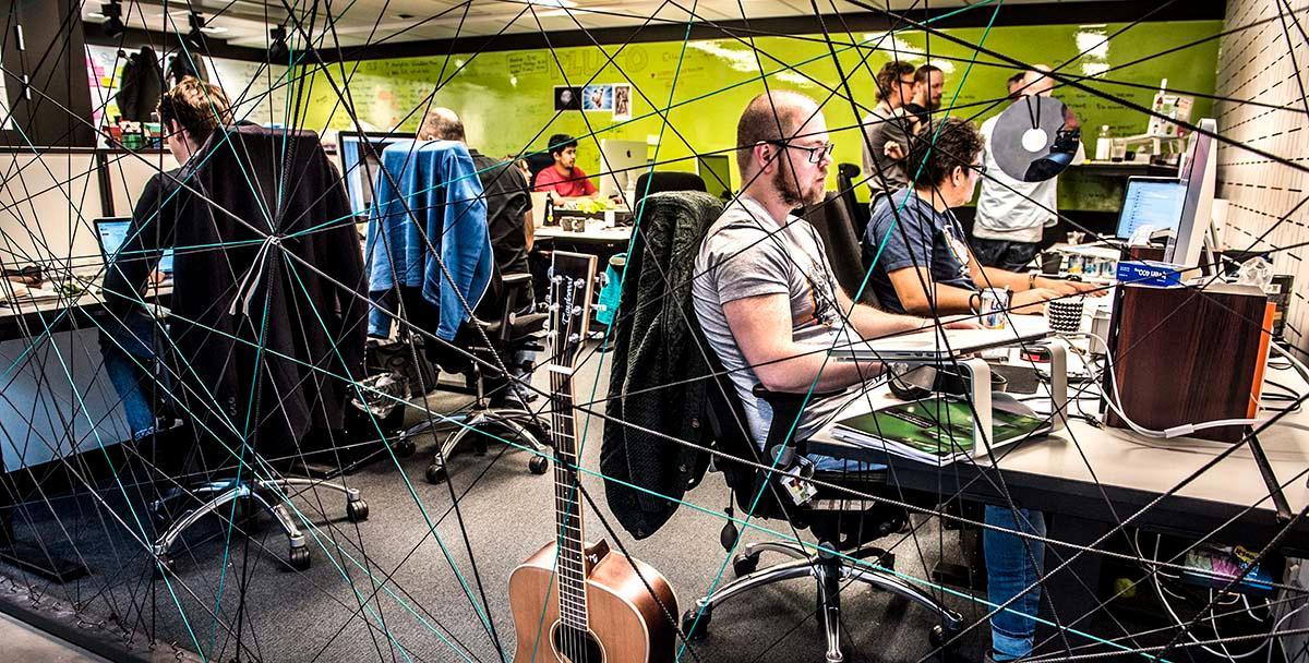 Webbutvecklare på Spotifys huvudkontor i Stockholm.