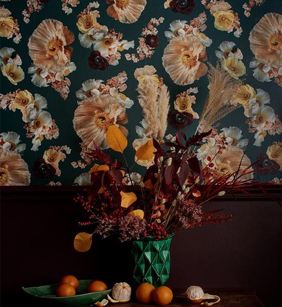 Tapet Pompadour Poppys 415 kr/kvm, Tigron & Floyd