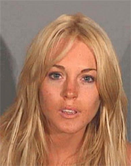 En av Lindsay Lohans tidigare mugshots.
