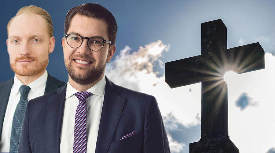 Respekt och ödmjukhet för klassisk kristen tro har fått stryka på foten till förmån för socialistiska och liberala politiska ställningstaganden i dagsaktuella frågor. Det beklagar vi, skriver Jimmie Åkesson och Aron Emilsson.