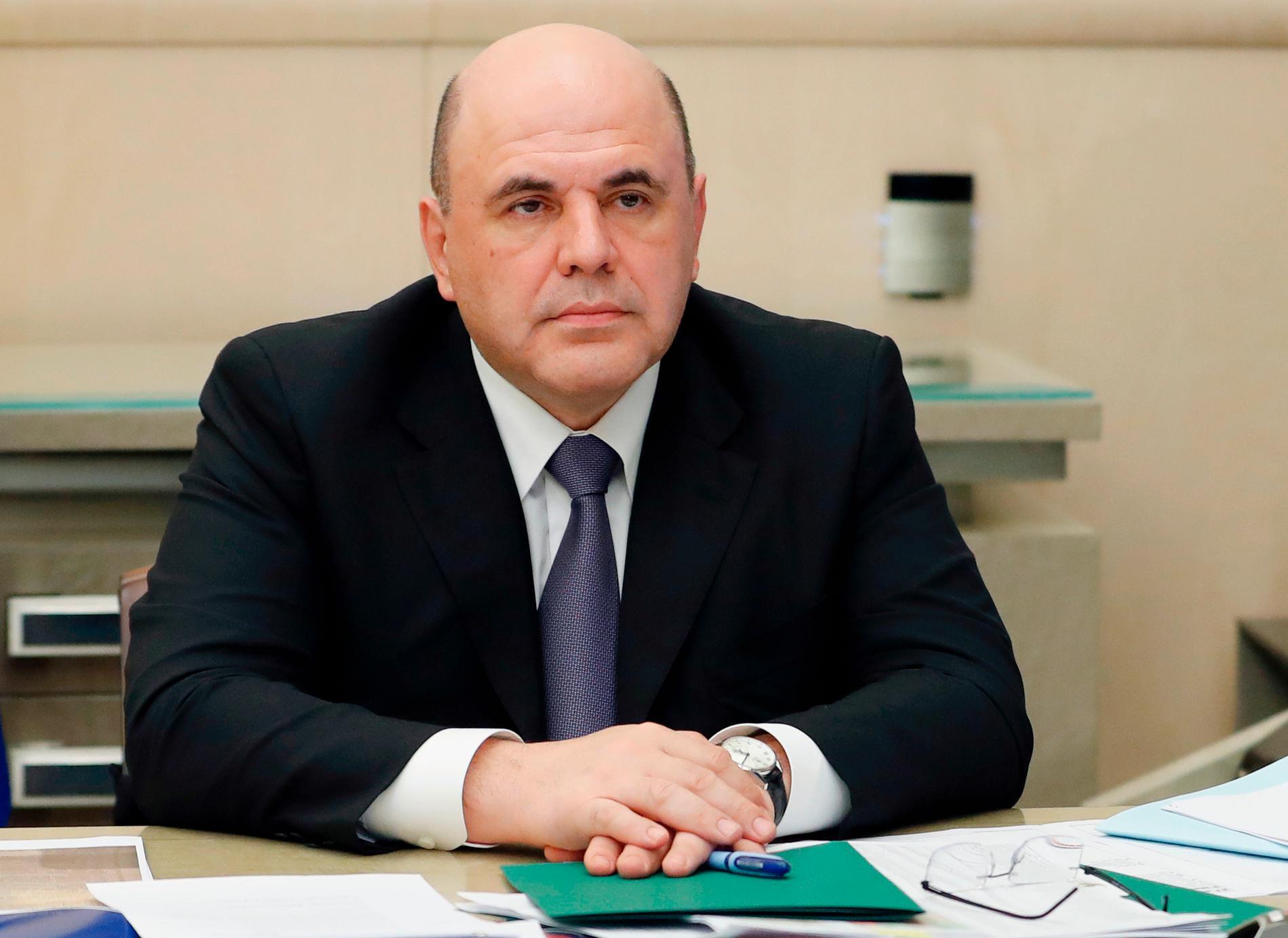 Rysslands premiärminister Michail Misjustin. Arkivbild.