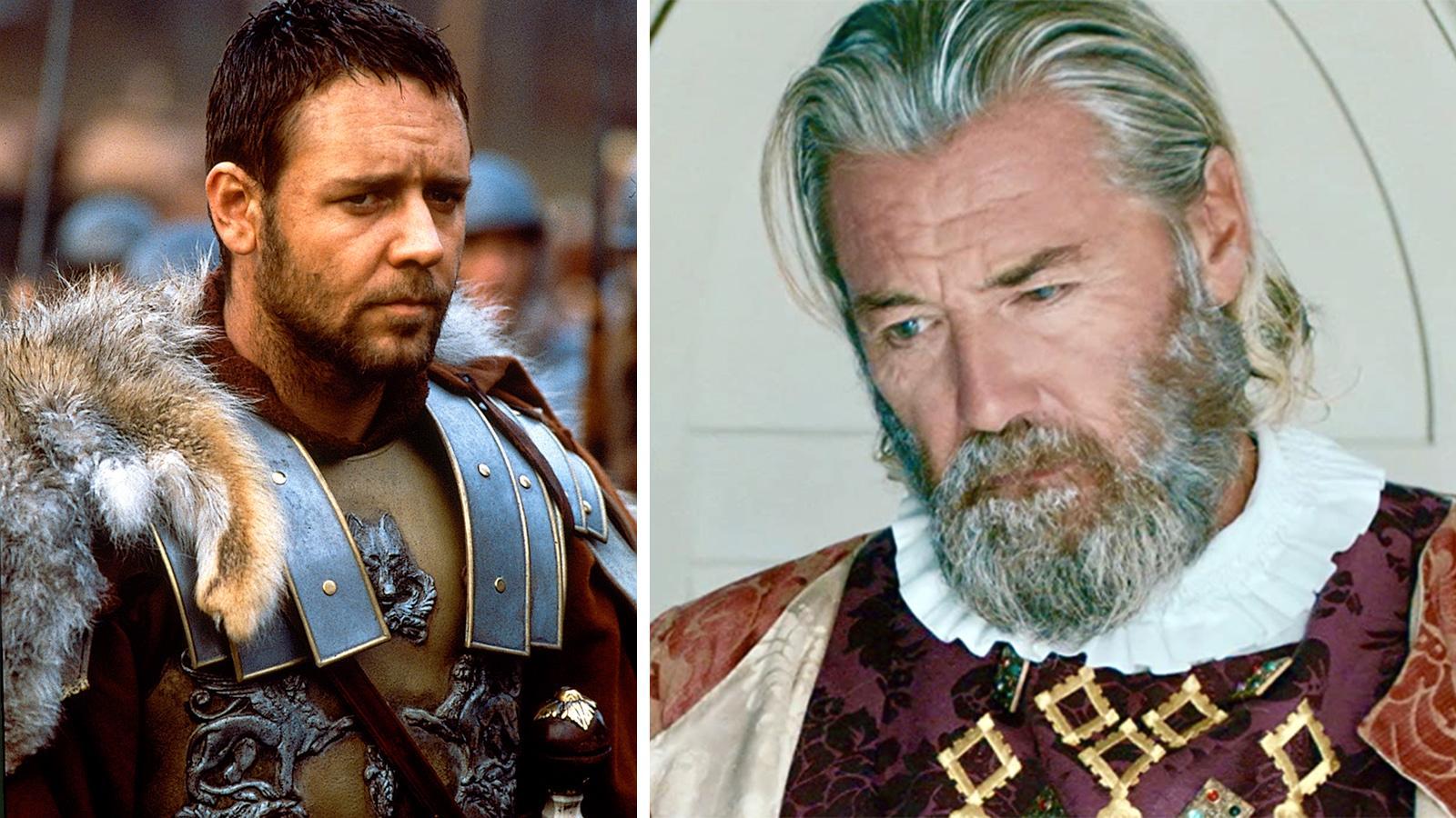 """Russell Crowe (till vänster) och Mike Mitchell i """"Gladiator""""."""