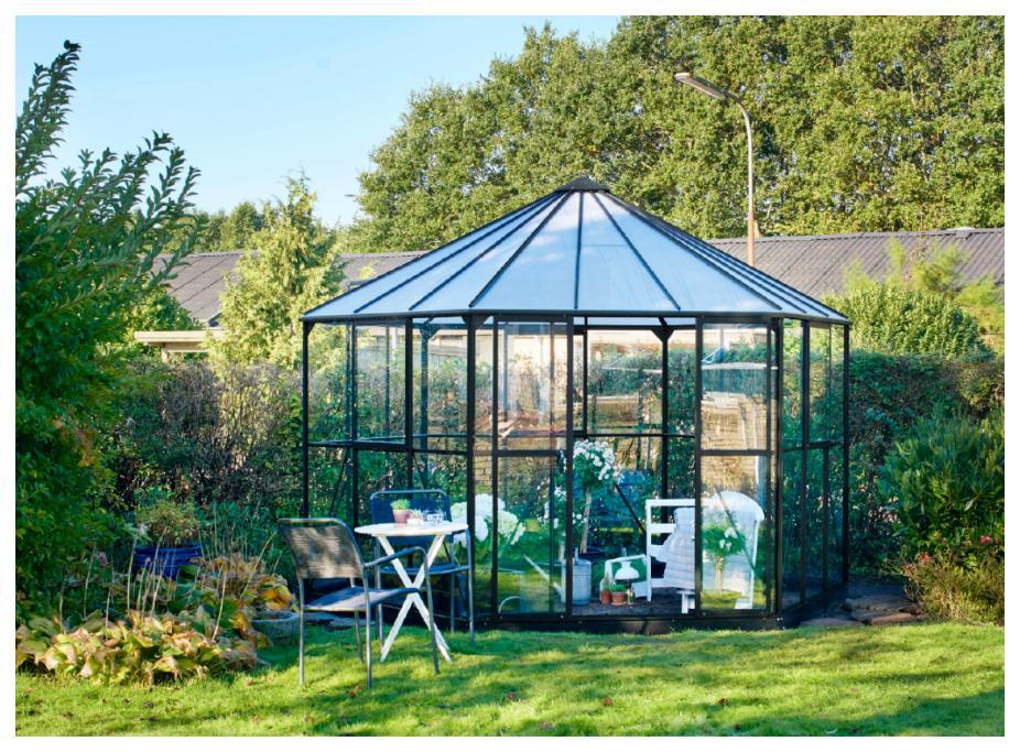 En glaspaviljong för både växter och människor!