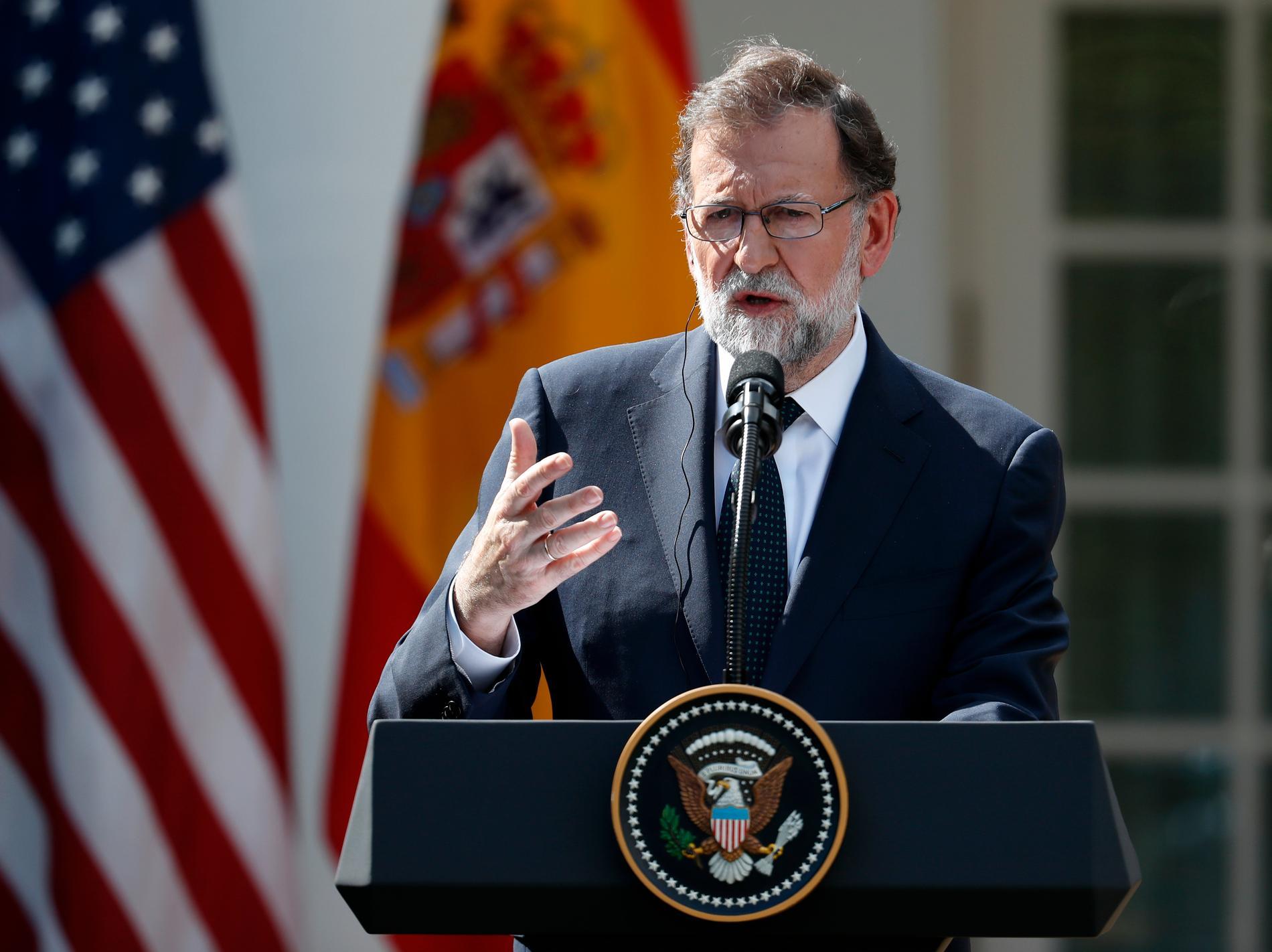Spaniens före detta premiärminister Mariano Rajoy.