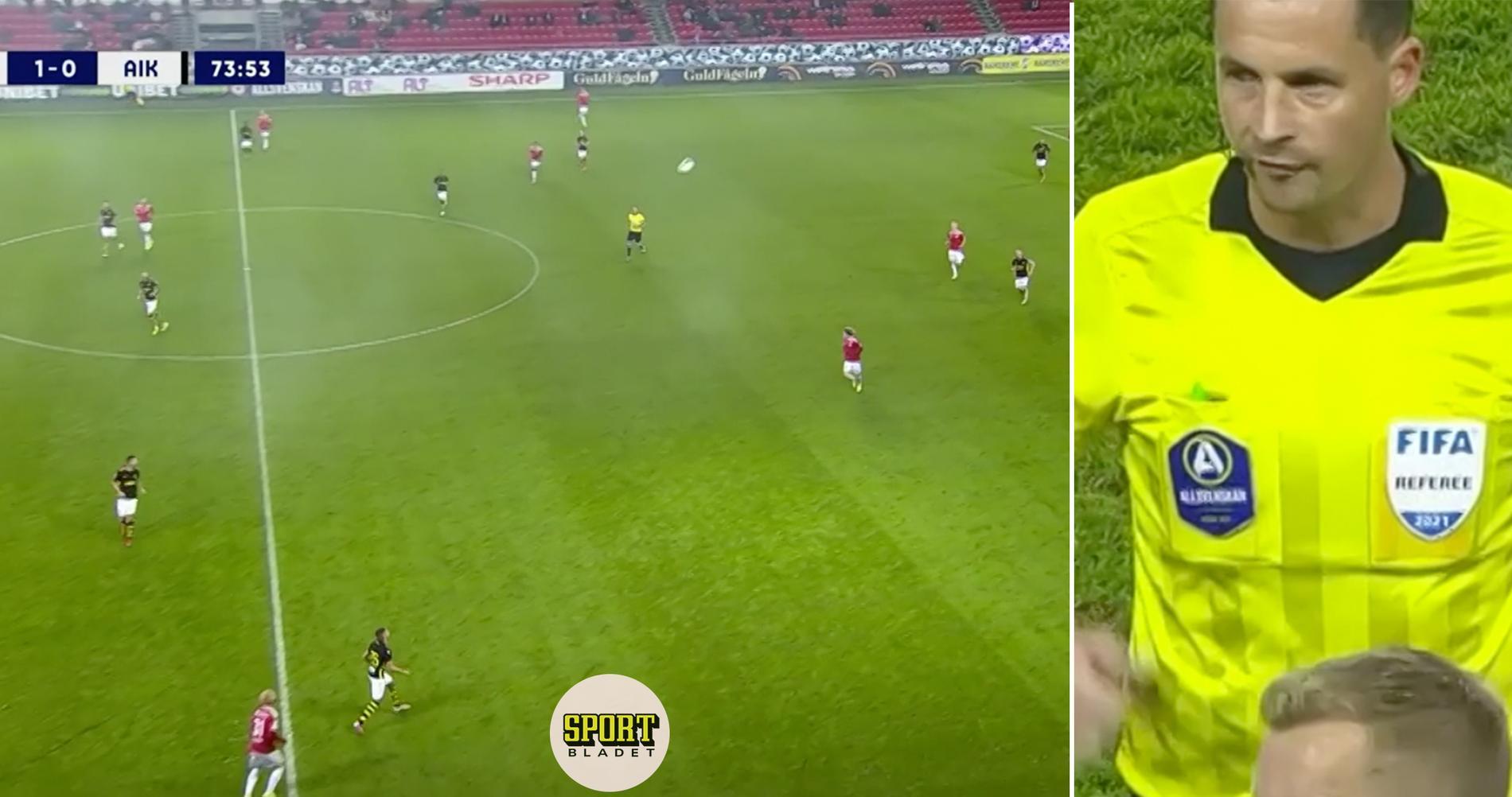 Märkliga bytet – AIK spelade med 12 (!) man mot Kalmar