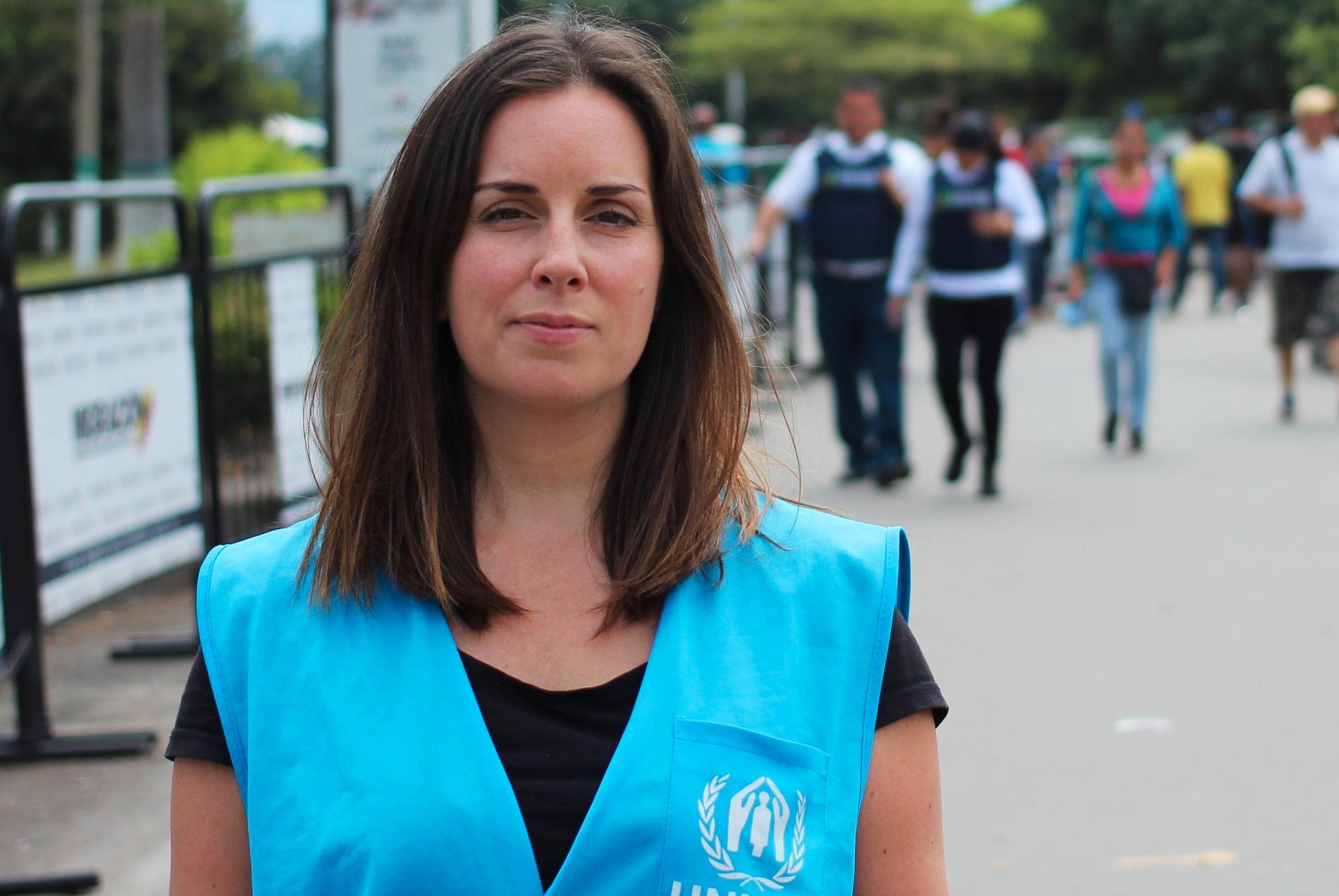 Sofia Ollvid från UNHCR är nyss hemkommen från staden Cúcuta som ligger på gränsen till Venezuela.