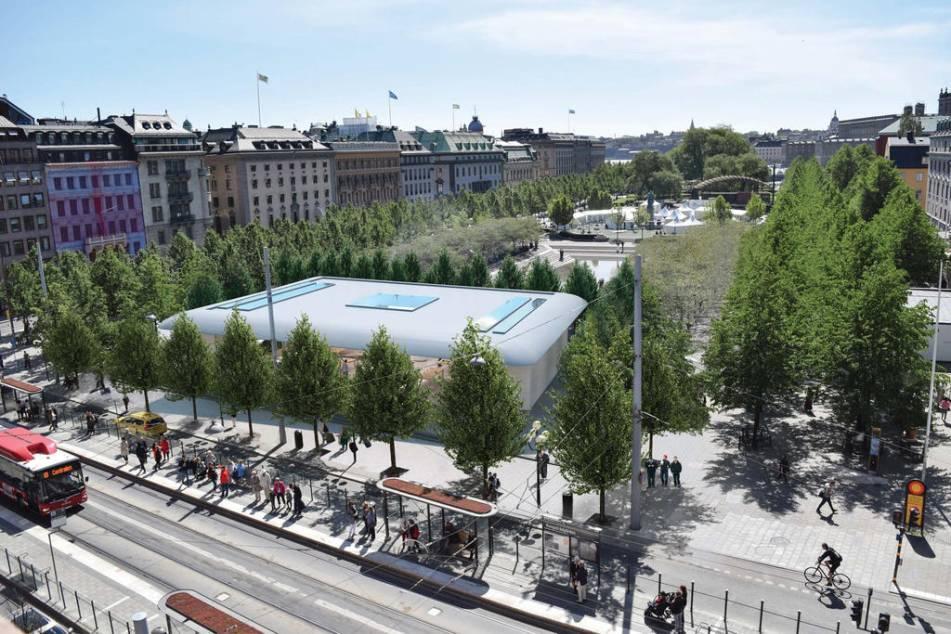 På platsen där sunkhaket 7 sekel låg, numer TGIF, vill Apple bygga sin nya butik i Kungsträdgården.