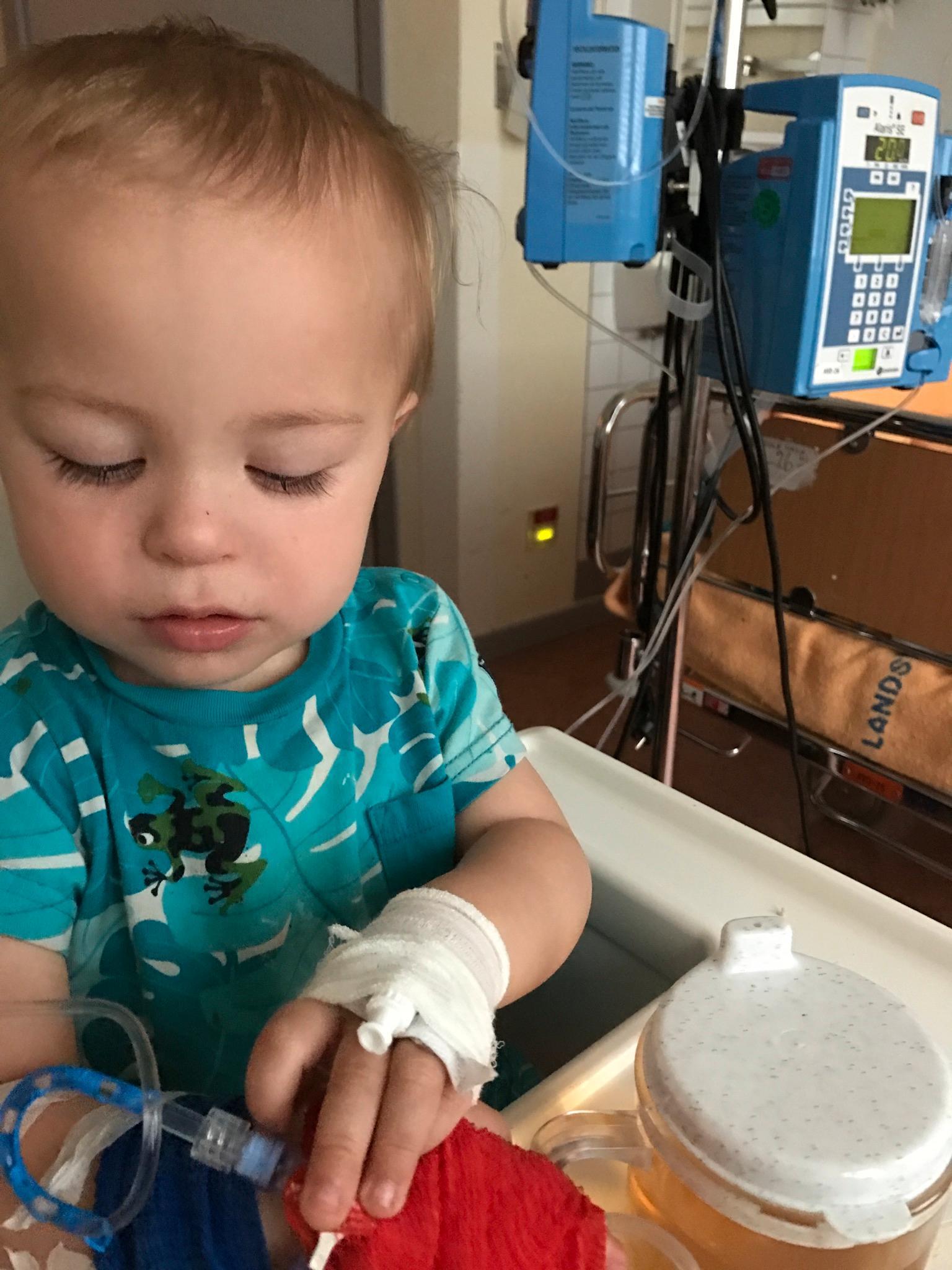 Miro fick diabetes när han var 17 månader gammal.
