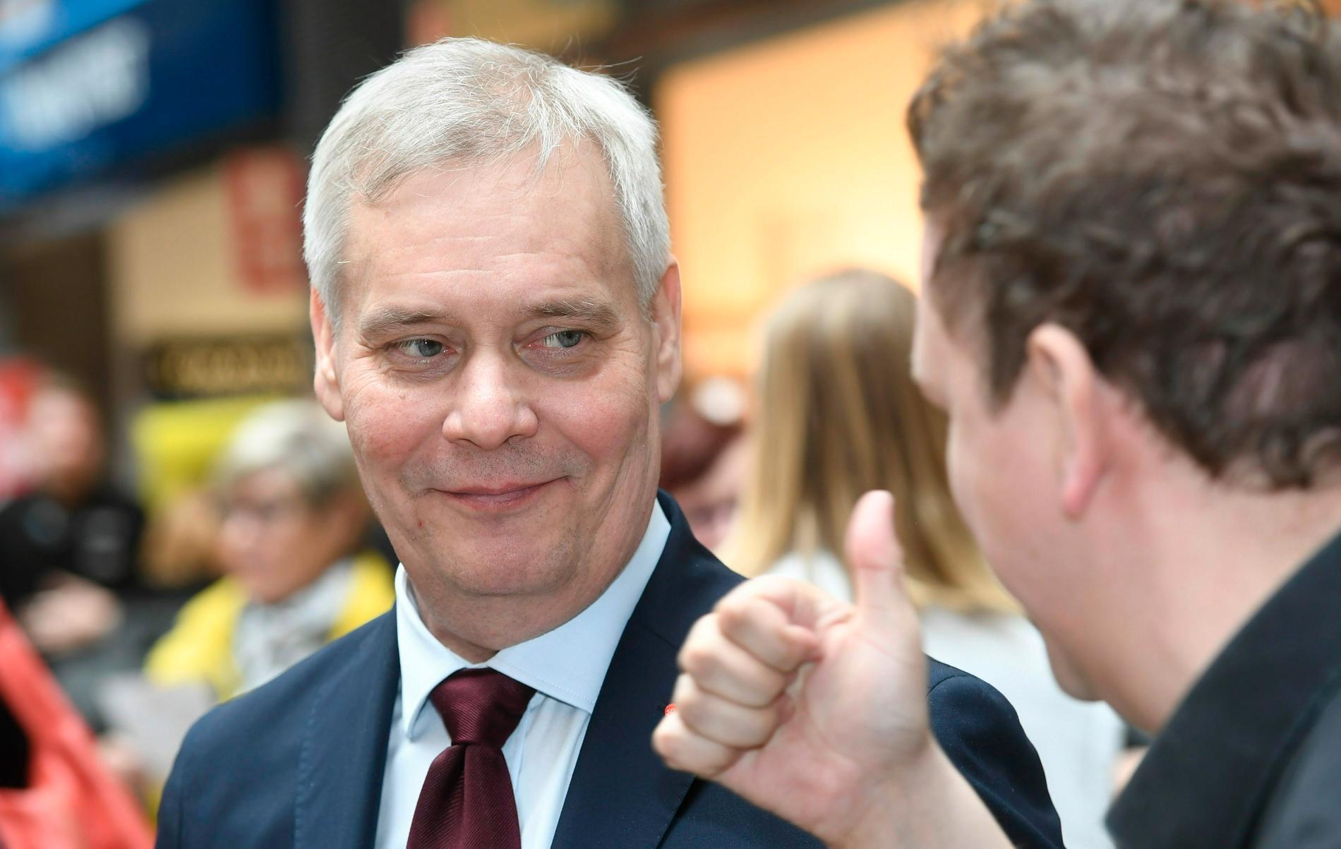 Socialdemokraternas ledare Antti Rinne.