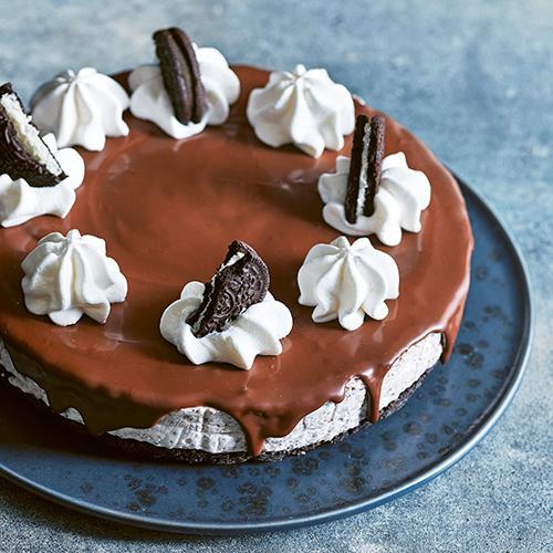 Ljuvligt gott – cheesecake med oreo och choklad.