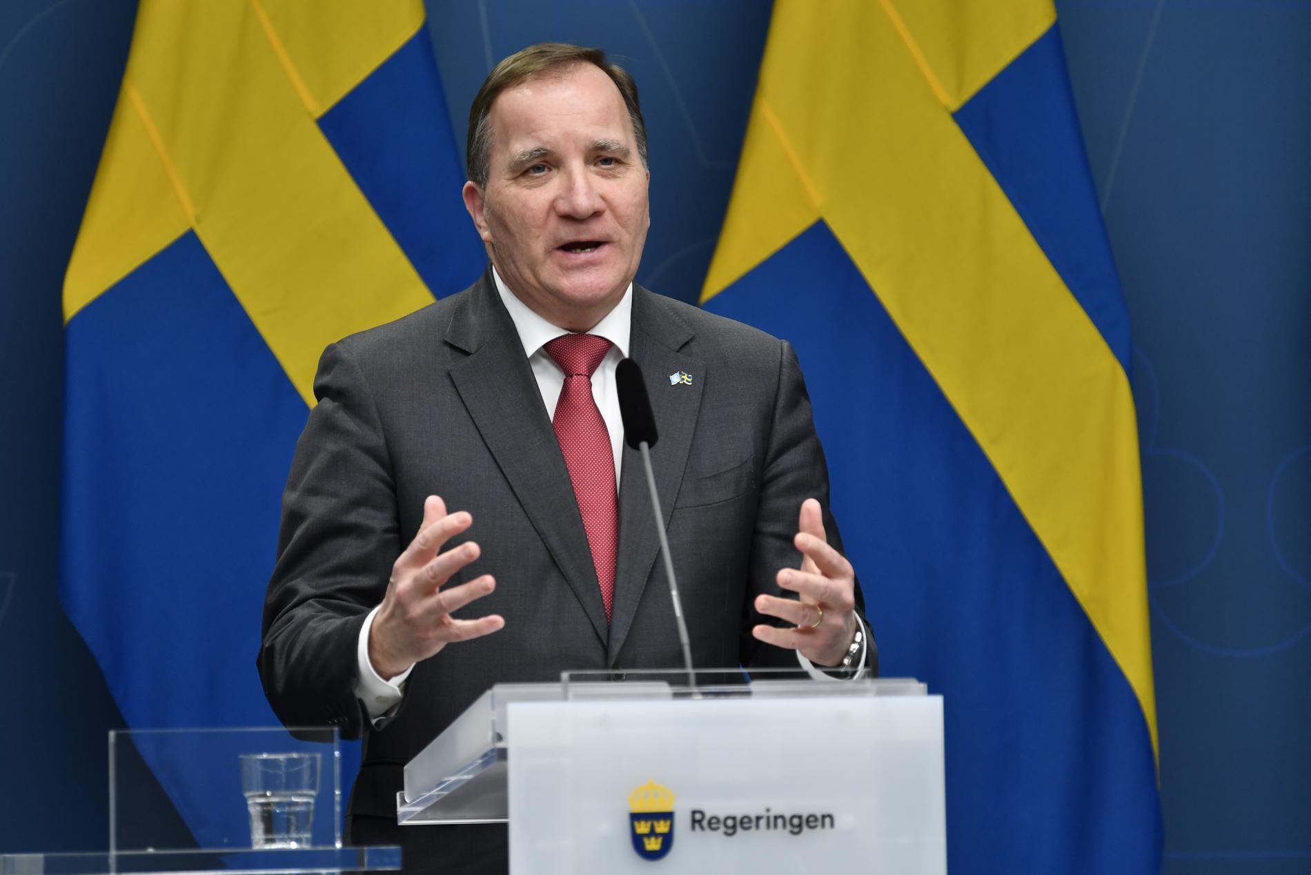 Stefan Löfven vid ett tidigare tillfälle.