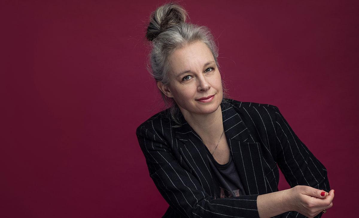 """Sara Stridsberg, aktuell med novellsamlingen """"Hunter i Huskvarna""""."""