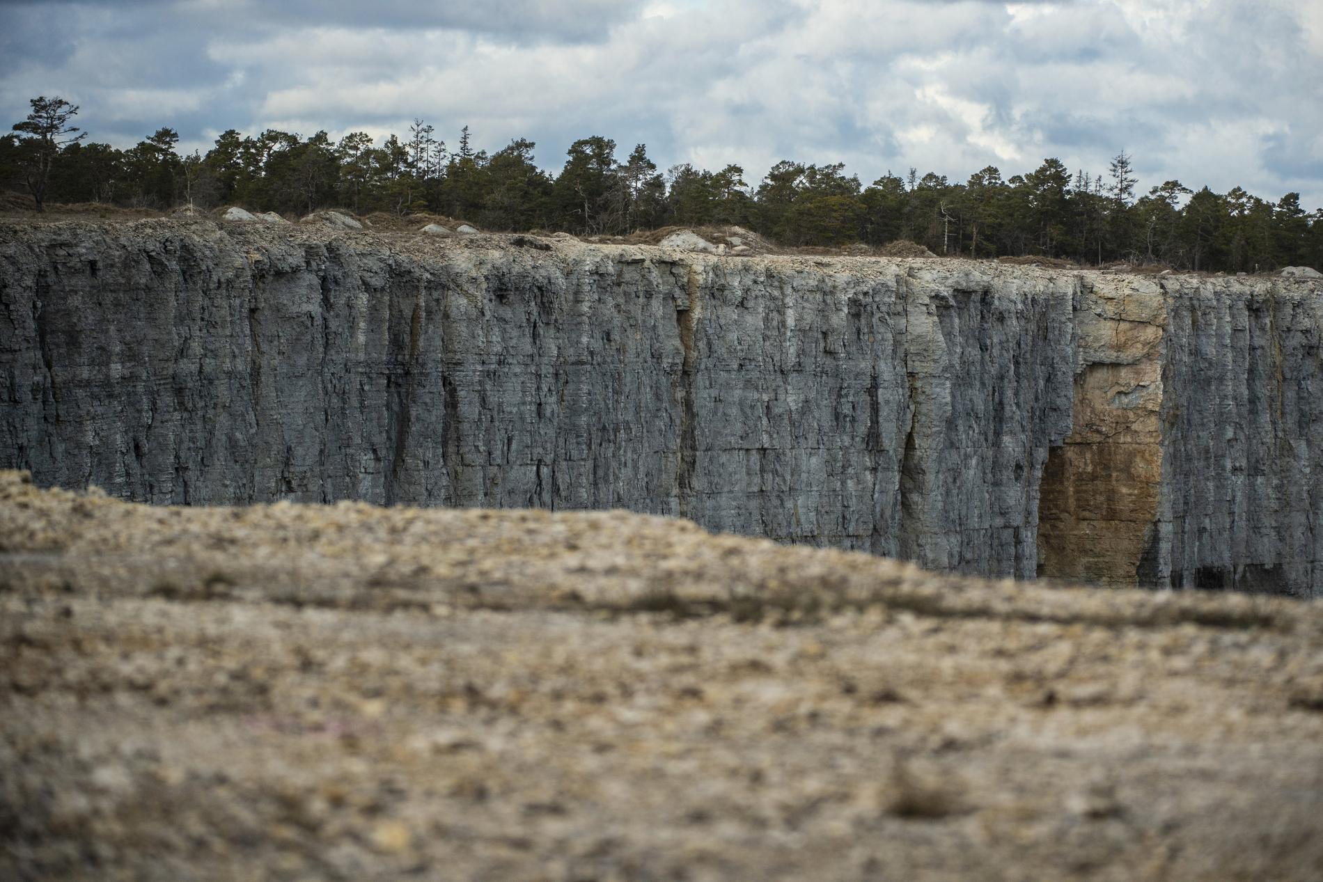 Kalkbrottet i Slite på Gotland.
