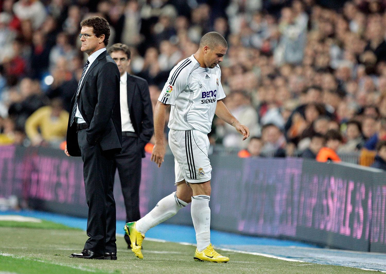 Ronaldo såldes av Real Madrid 2007. Samma år försvann även Fabio Capello från klubben.