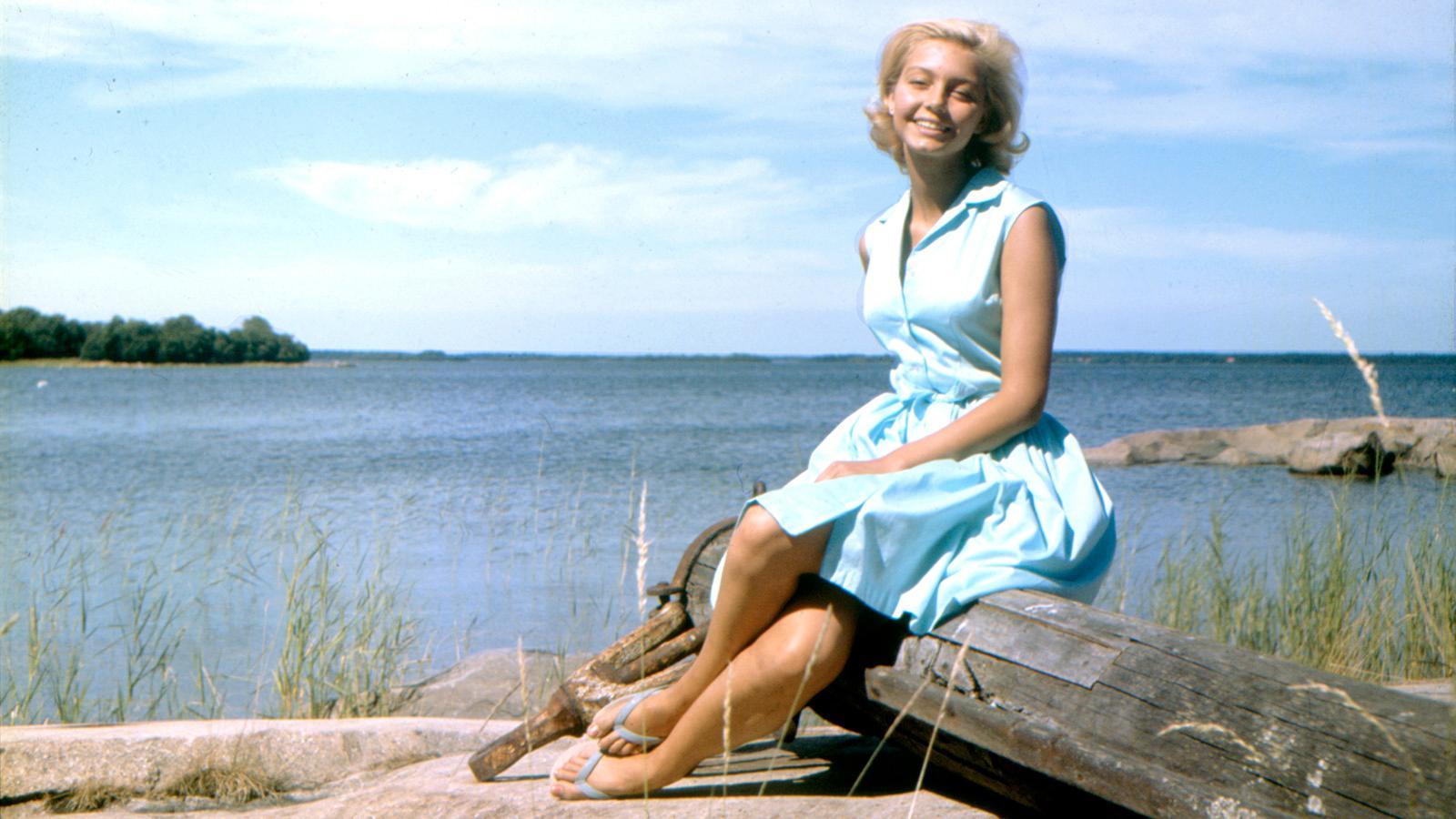 """Malin (Louise Edlind) i """"Vi på Saltkråkan""""."""