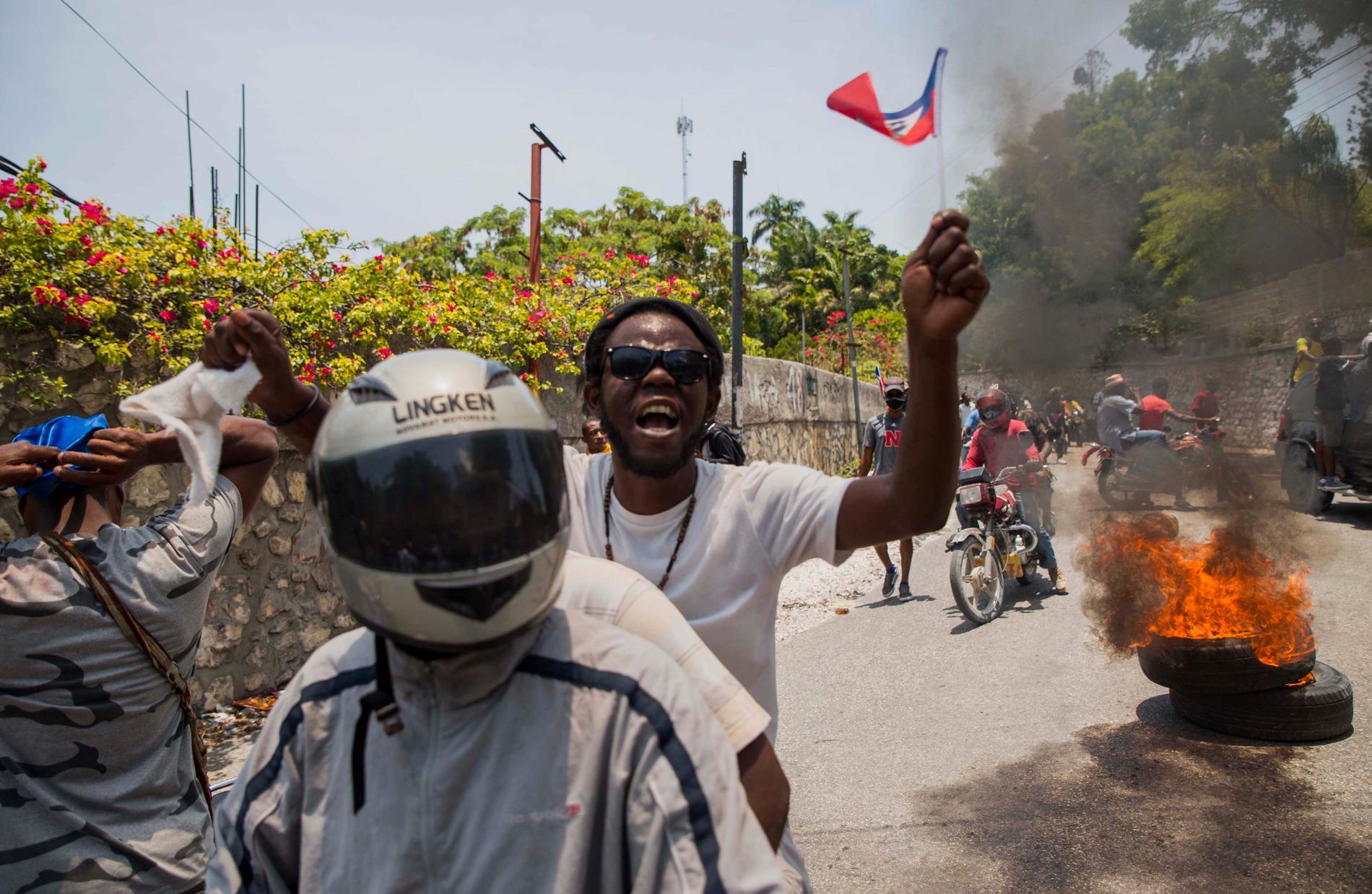 Haitiska protester. Nu varnas för instabilitet och våldsspiral i landet.