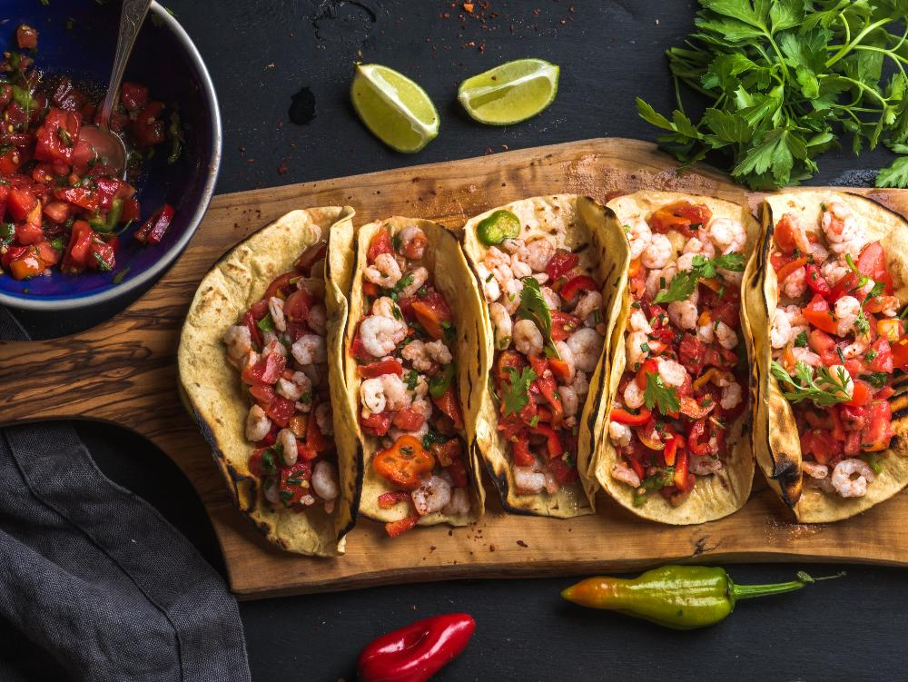 Tacos med räkfyllning