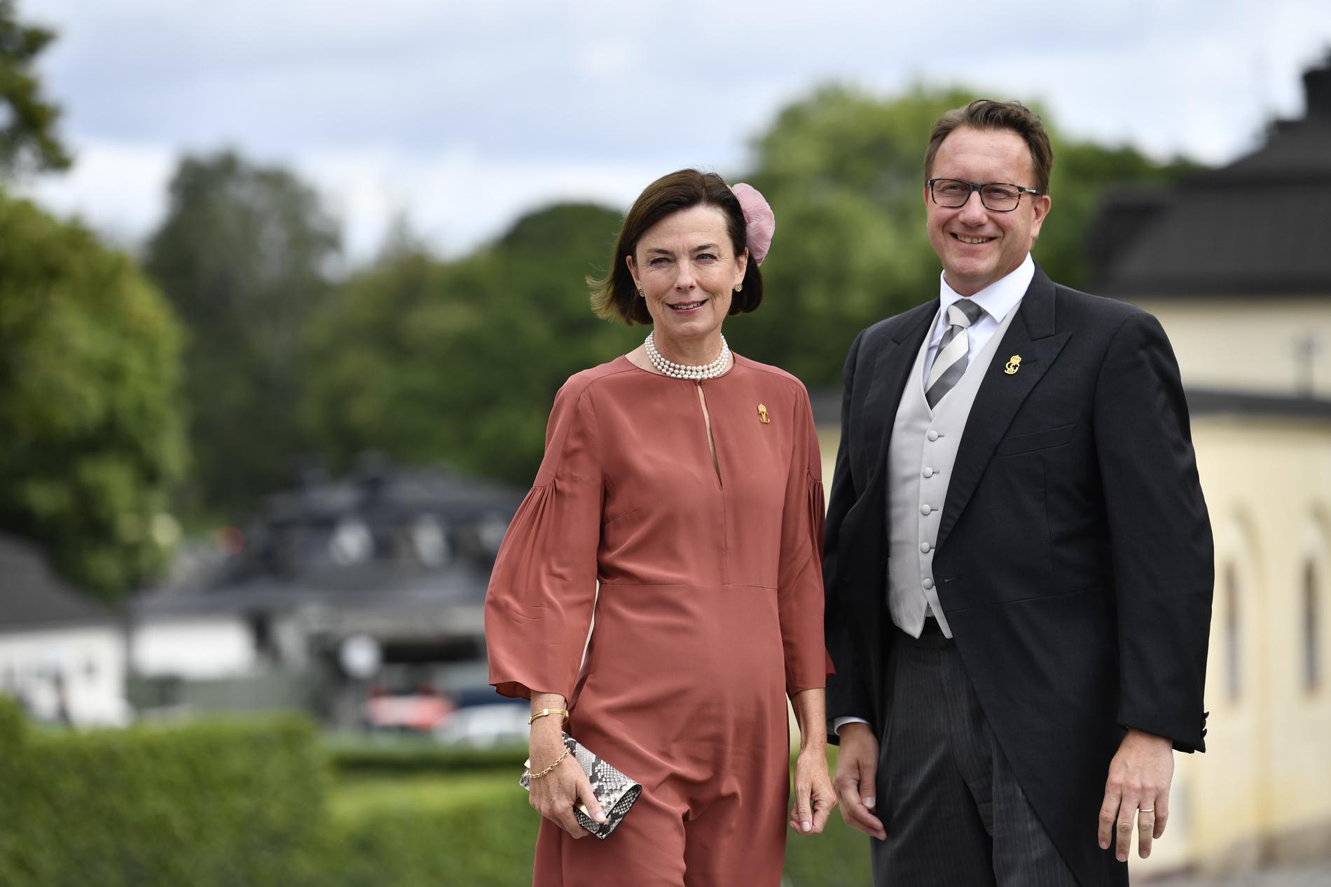 Statsfrun grevinnan Anna Hamilton och Hovmarskalk Göran Lithell.