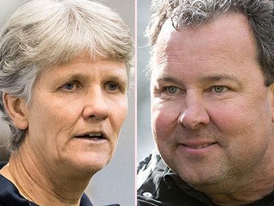 Sundhage och Rehn.
