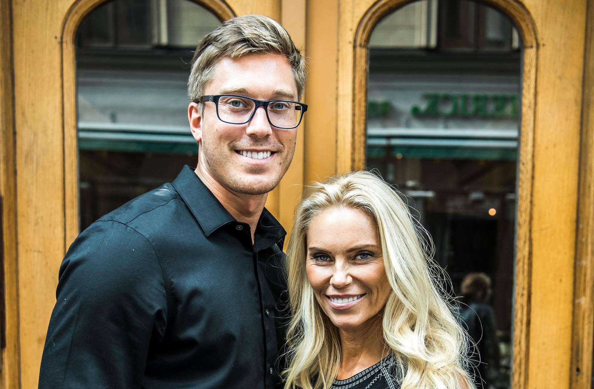 Anna Anka med maken David Johansson.