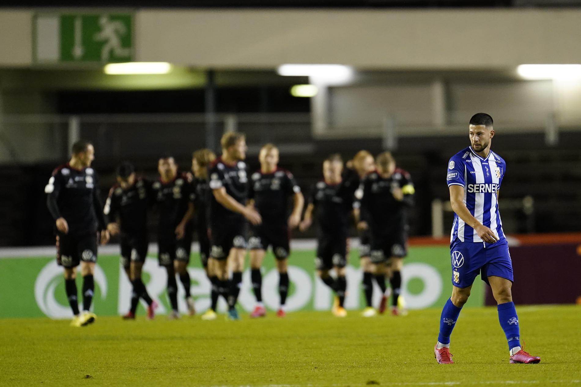 IFK Göteborgs Kevin Yakob deppar efter Kalmars 1–0.