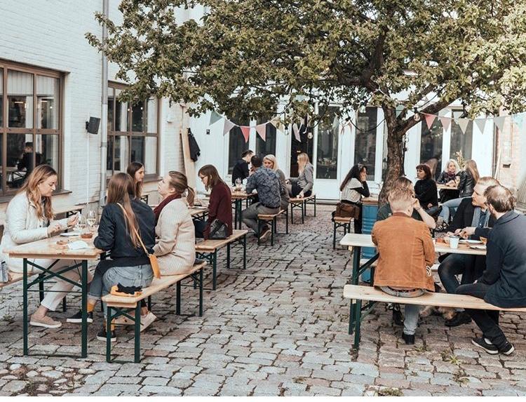 Innergården på Hotell Botanika