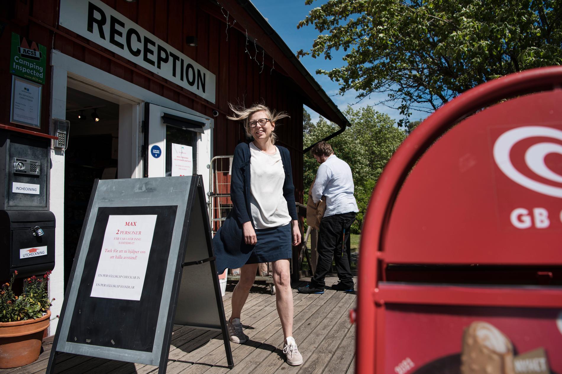 På Gålö Havsbad är arbetet i fullgång inför sommaren. Redan nu har ett tjugotal gäster checkat in.