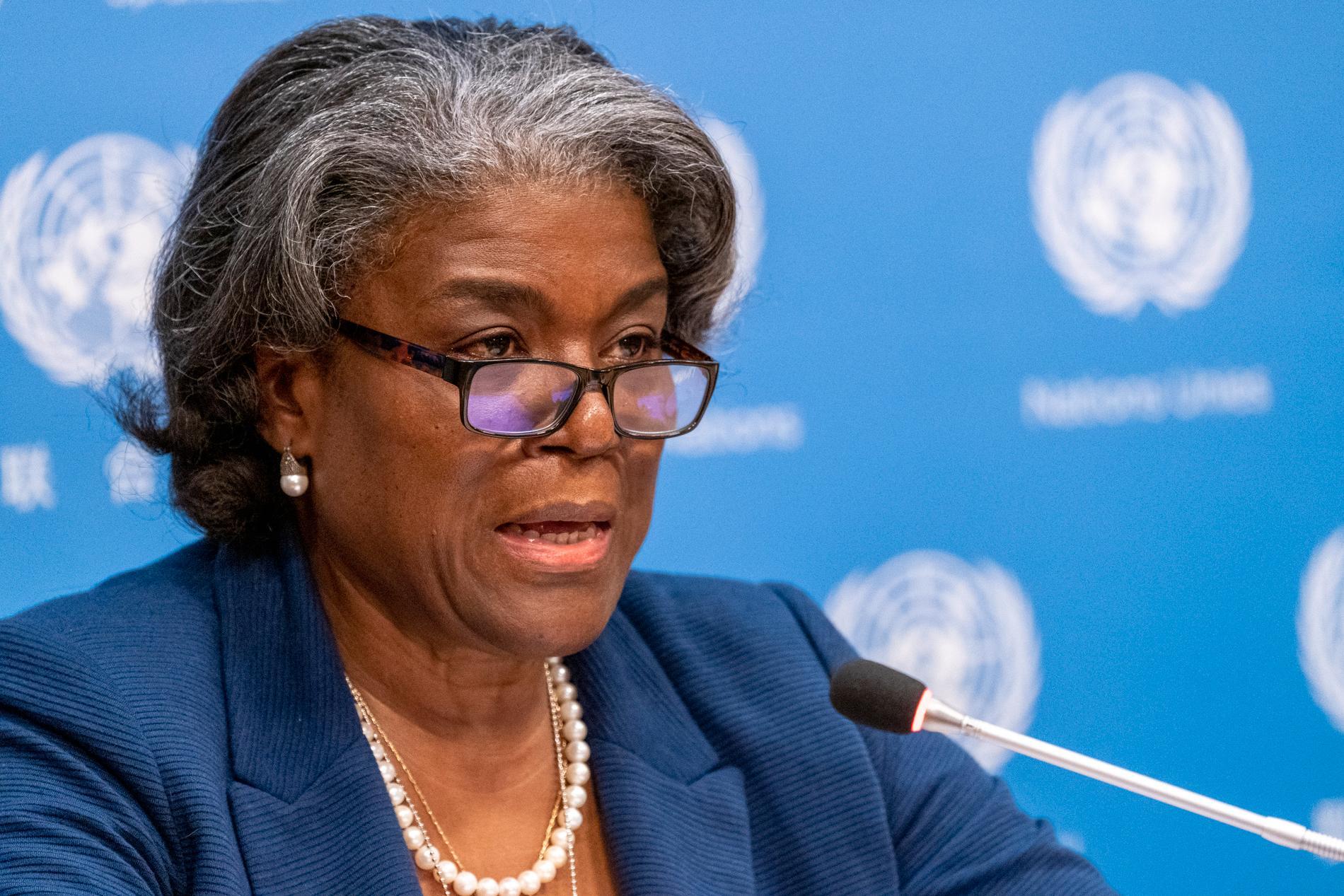 USA:s FN-ambassadör Linda Thomas-Greenfield. Arkivbild.