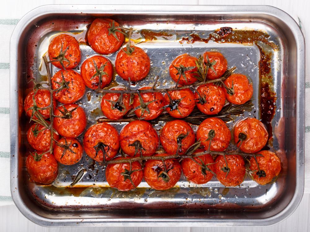 Ugnsrostade tomater.