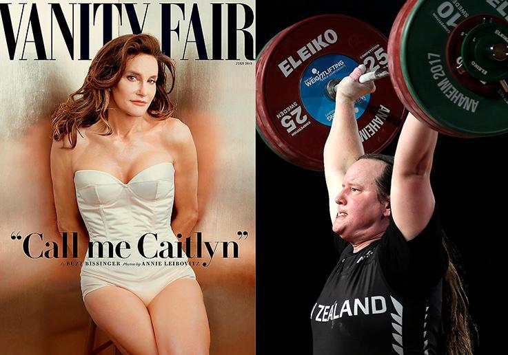 Tv-kändisen Caityn Jenner föddes som Bruce Jenner. Hon genomförde en könskorrigering 2015. Tyngdlyftaren Gavin Hubard blev Laurel Hubbard och utklassningsvann de australiensiska mästerskapen för kvinnor.