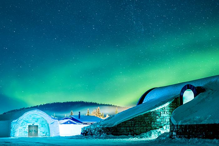 Ishotellet i Jukkasjärvi är kanske inte någonting för den frussne.