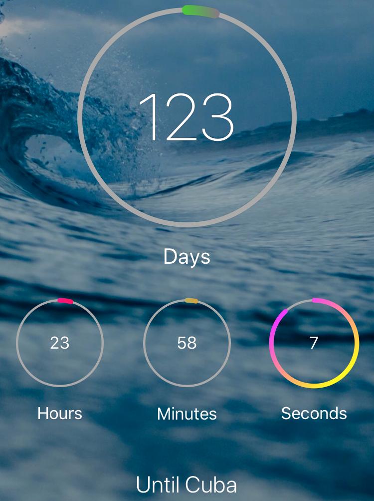 Den här appen passar den som vill veta exakt hur långt det är kvar till resan.