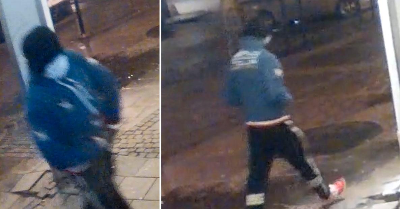 Den åtalade mannen fångades på övervakningskamera vid bankomaten där sjubarnspappan höggs ner.
