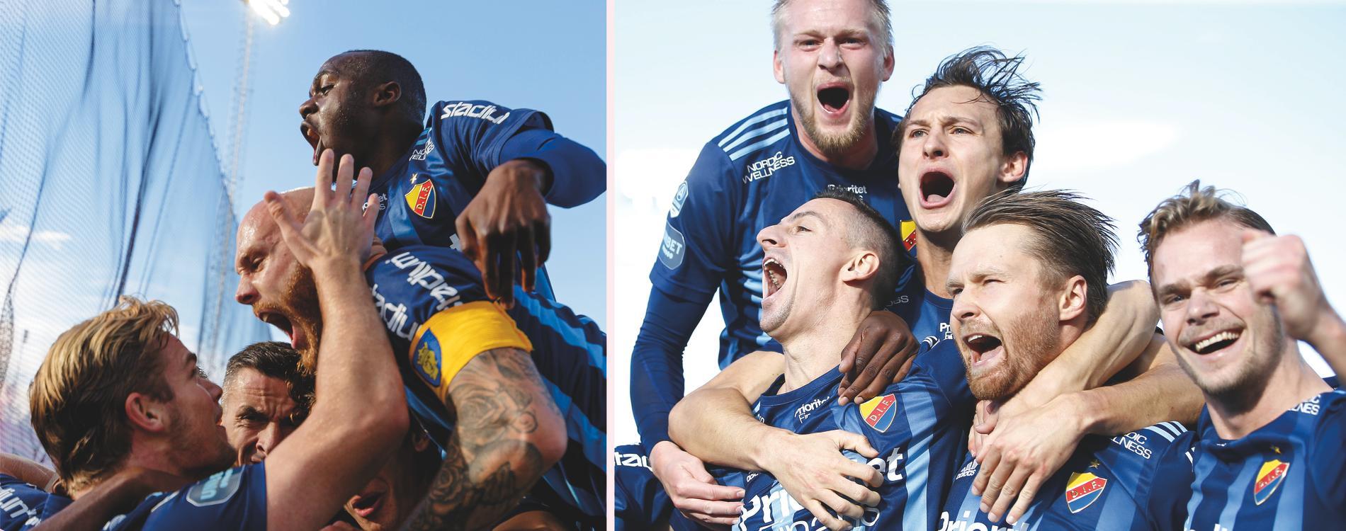 Vilt jubel efter ett av Djurgårdens tre mål mot Östersund.