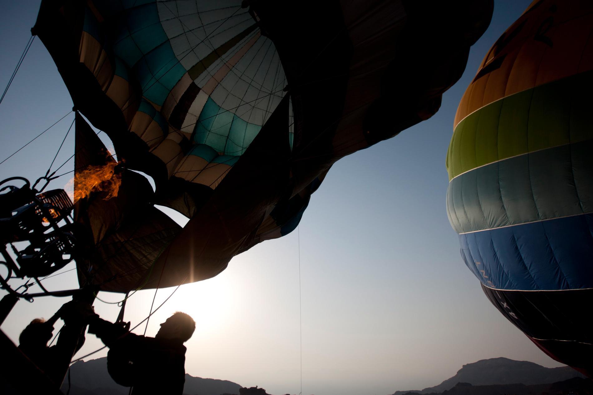 En luftballong har gått ner i ett bostadsområde under tisdagskvällen. Arkivbild.