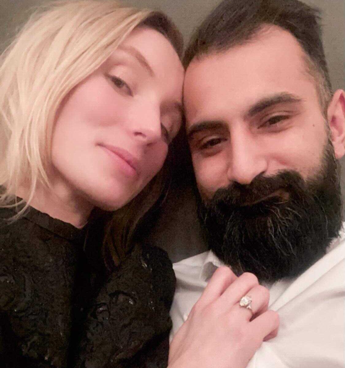 Nyförlovade Linnea Lundgren, 27, och Hanif Bali, 33.