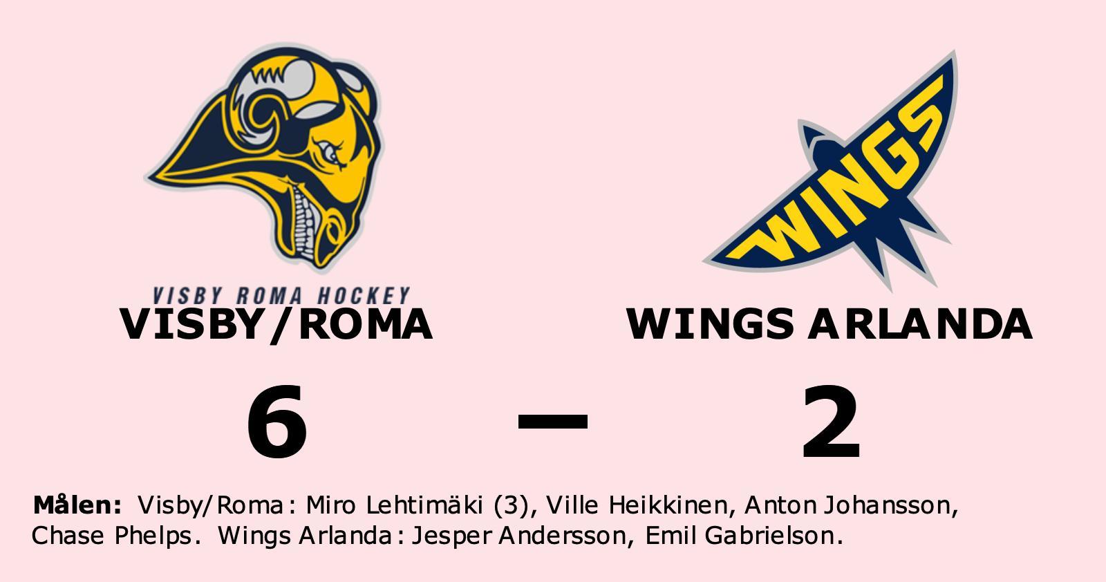 Förlust för Wings Arlanda borta mot Visby/Roma