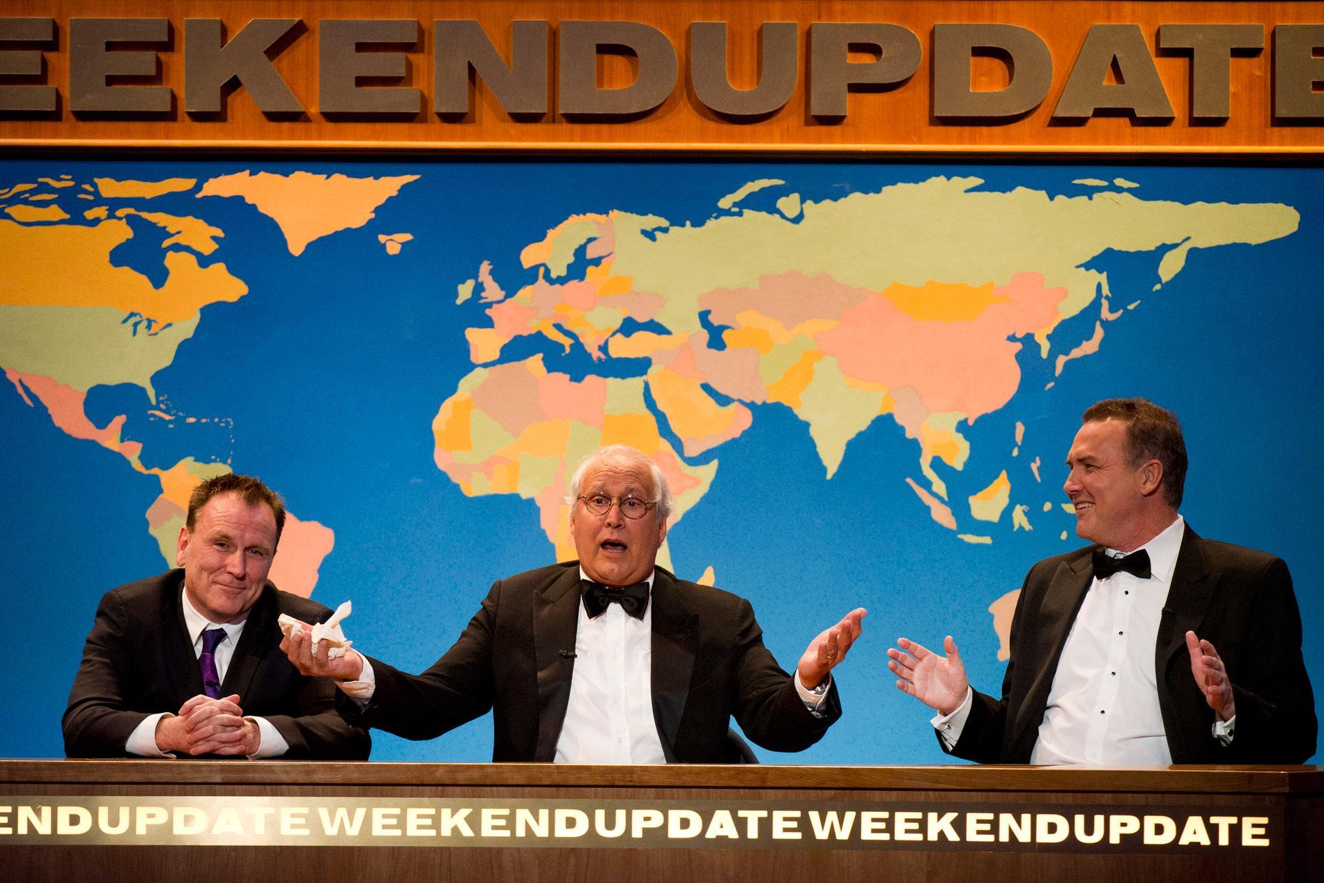 Colin Quinn, Chevy Chase och Norm Macdonald återförenade 2012.