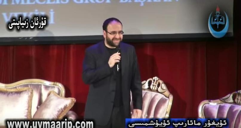 """Här deltar Mehmet Kaplan i ett möte med några av islamistiska """"Milli Görüs"""" högsta företrädare."""