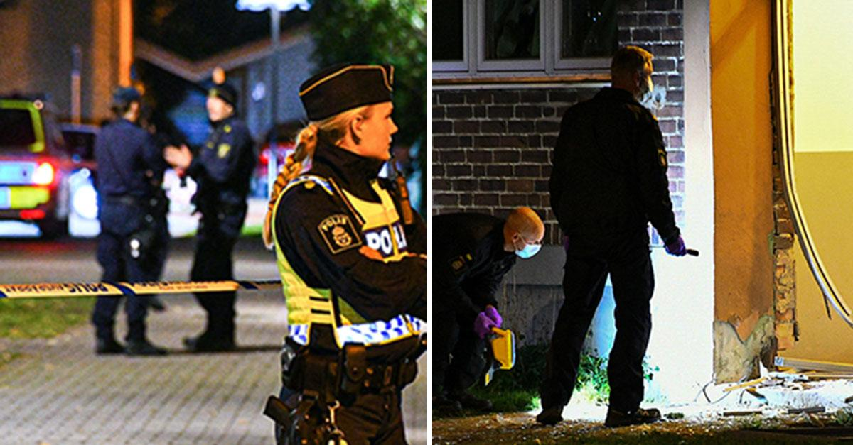 Explosion i Helsingborg