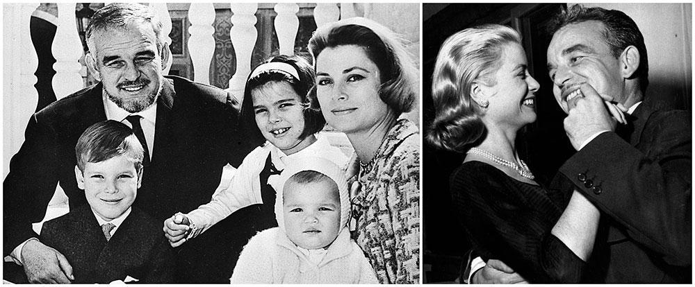 Grace Kelly och furst Rainier fick tre barn tillsamans: Caroline, Albert och Stéphanie.