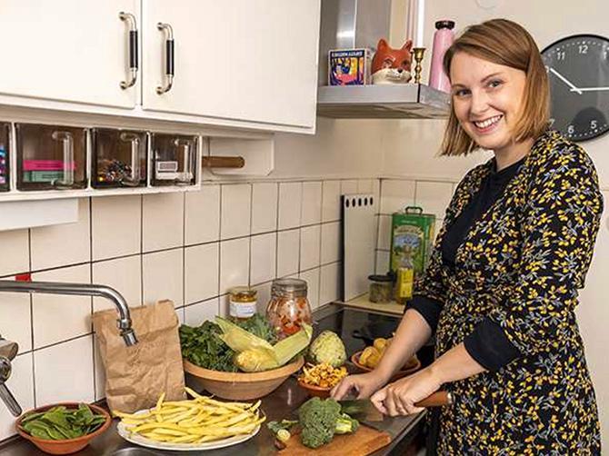 – Jag lagade klimatsmart mat utan att jag visste om det, säger Julia Tuvesson.