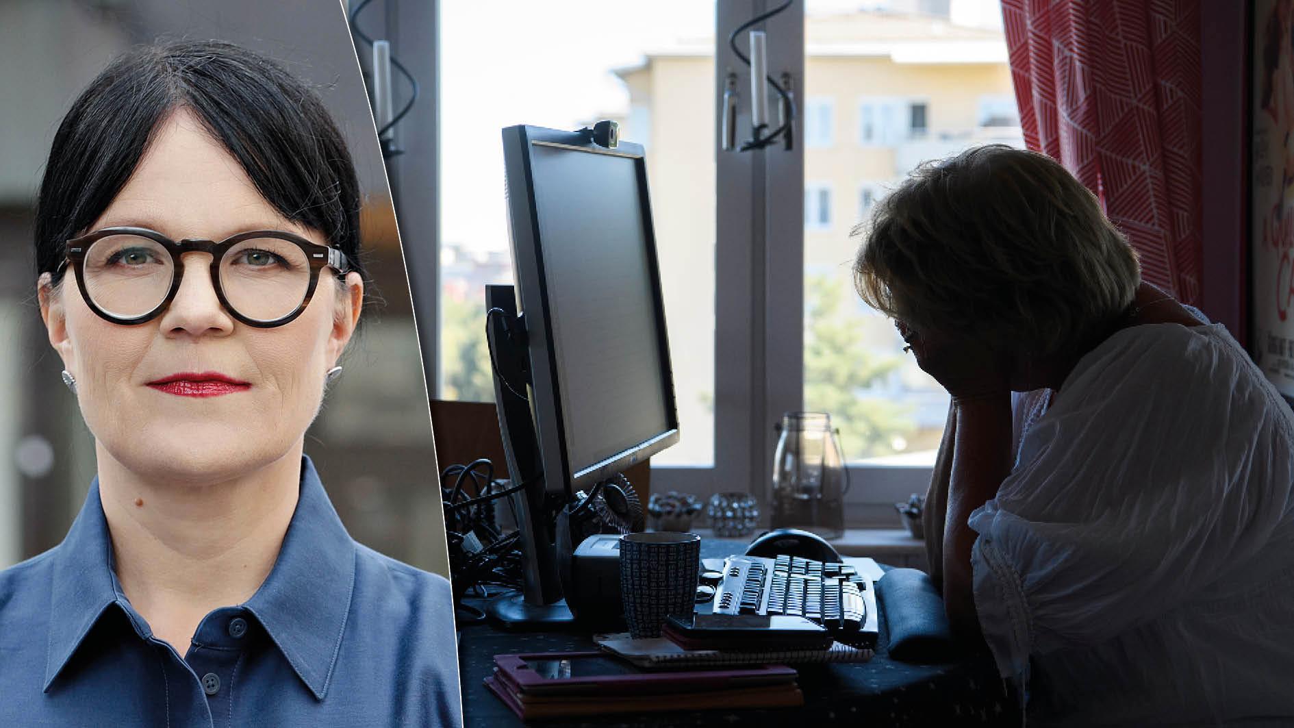 En ny undersökning visar att sju av tio svenska chefer befarar att medarbetare som distansarbetar riskerar att missgynnas när det gäller arbetsuppgifter och delaktighet. Formerna för distansarbetet är en avgörande fråga för framtidens arbetsliv, skriver Therese Svanström.